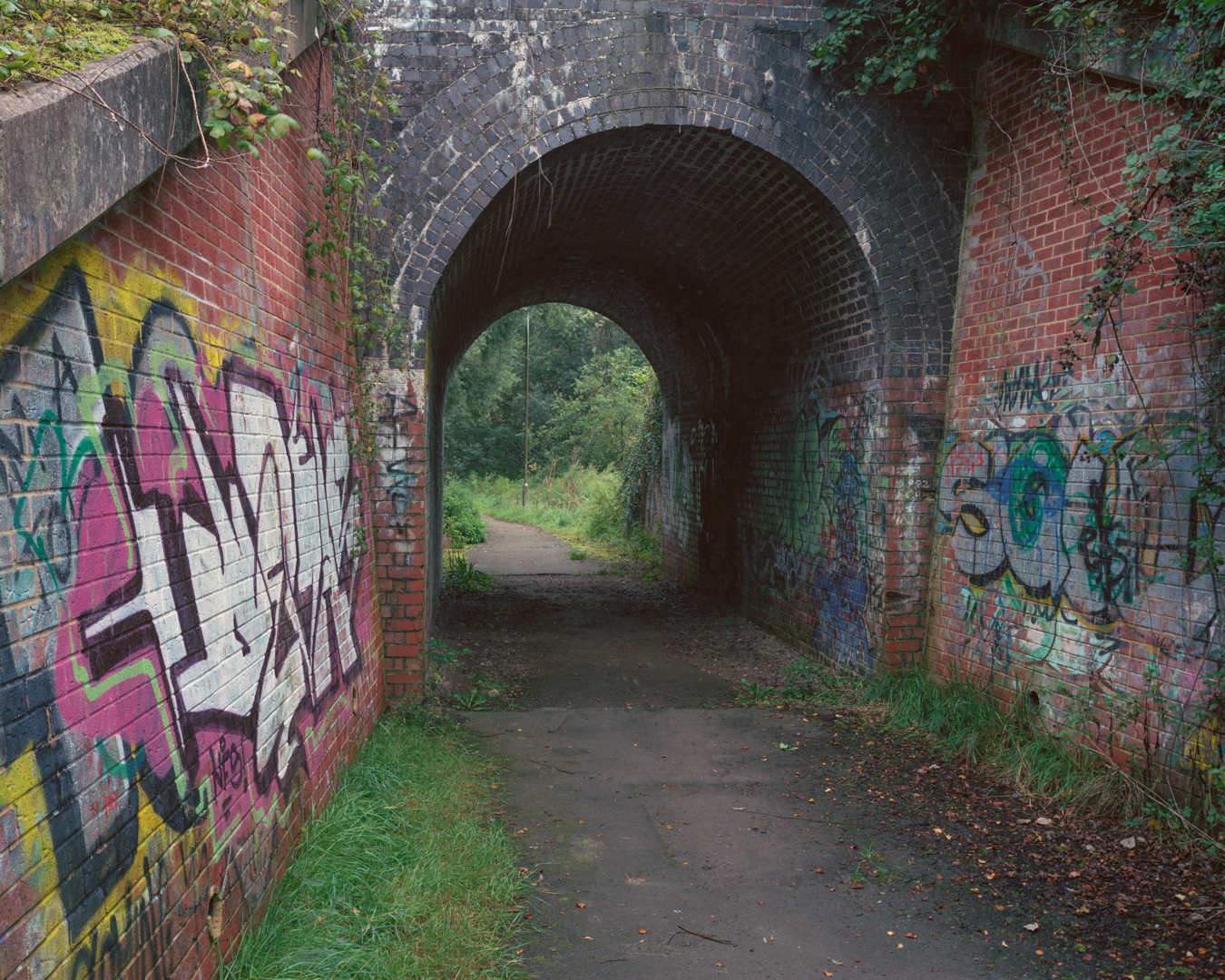 Railway underpass at Sparcells, Swindon, 2016